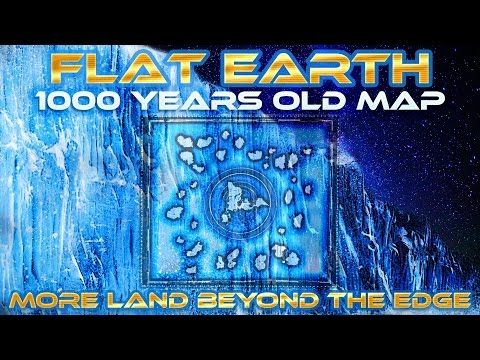FLAT EARTH - 1000 YEARS OLD MAP Shows MORE Land Beyond ANTARTICA Edge/Ice Wall - Honolulu Map - YouTube