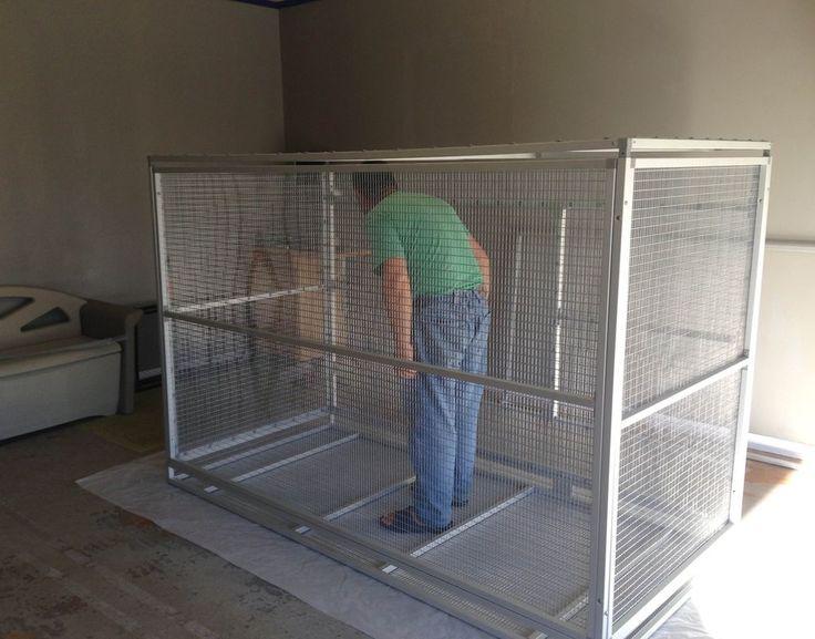 Aluminum Aviary Big Bird Cage