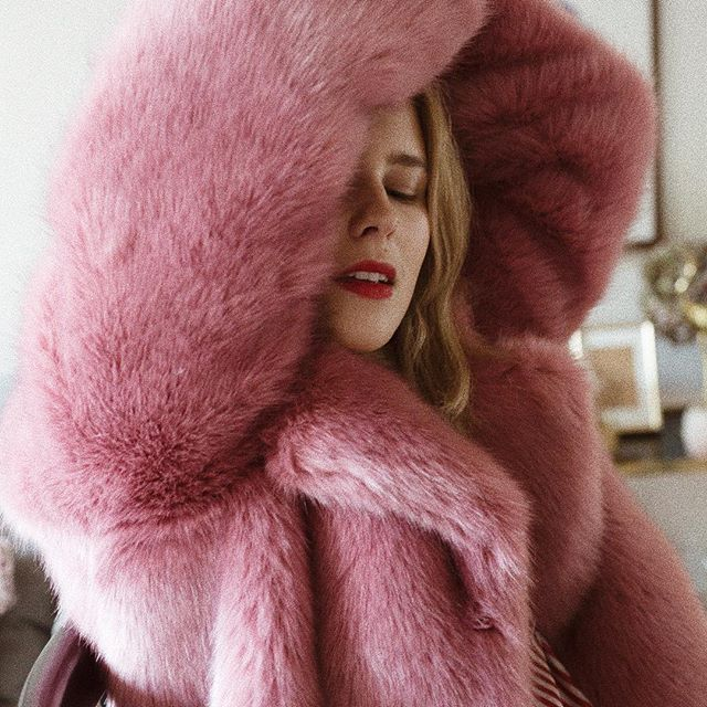 @jlundhall ready for winter in HOPE Foxy Faux Fur