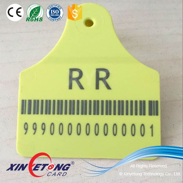 ISO11784/5 Bracode ID Cow Tags Bar-Code Cattle Tags