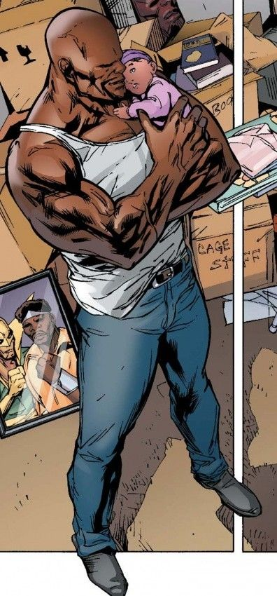 "superheroesincolor: ""Luke and Danielle Cage // Marvel Comics """
