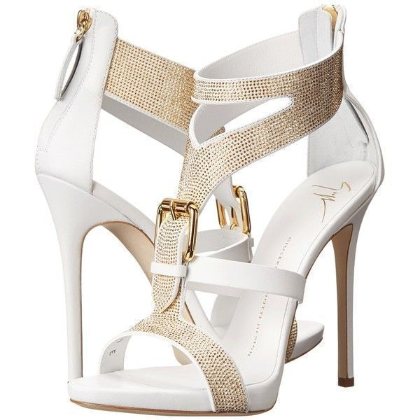 Giuseppe Zanotti E50220 ($1,250) ❤ liked on Polyvore featuring shoes, sandals, heels, high heels, sapatos, white, leather strap sandals, strappy heel sandals, white high heel sandals and platform sandals #giuseppezanottiheelszapatos #giuseppezanottiheelsw #giuseppezanottiheelswhite