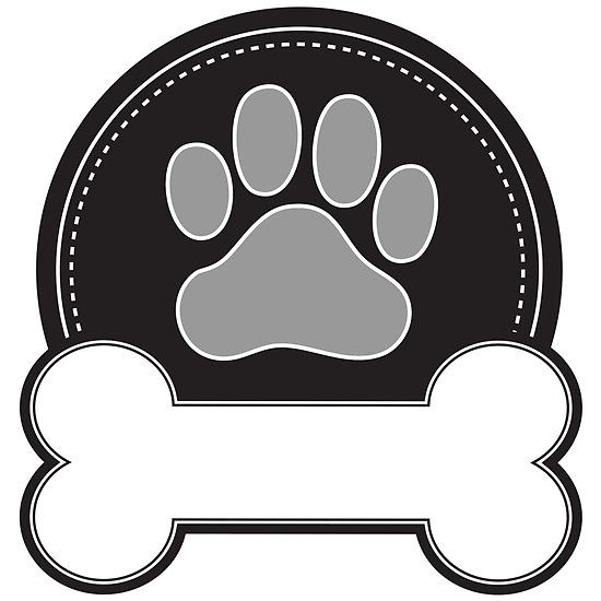 Dog Bone and Paw by Maria Bell | Redbubble