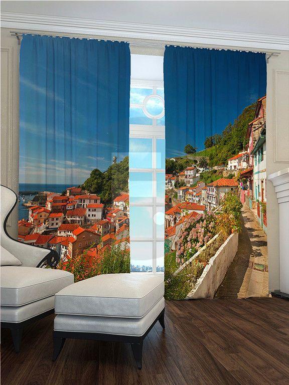 Fotogardinen Vorhänge In Luxus Fotodruck 3D. 2 Tlg. | Vorhänge | Pinterest  | Vorhänge, 3d Und Luxus
