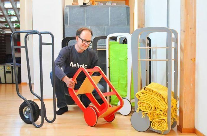 the elegant fleimio trolleys in Keski-Uusimaa newspaper 25.5.2017