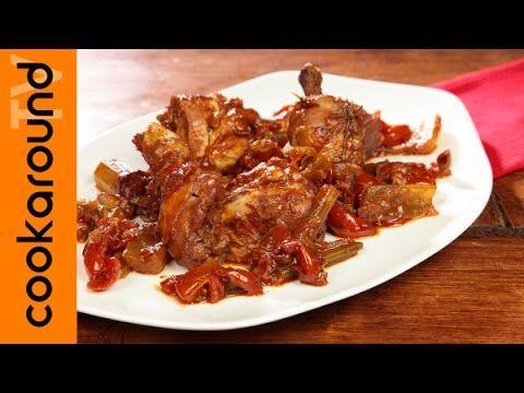 Pollo alla cacciatora / Tutorial ricetta piccante - YouTube
