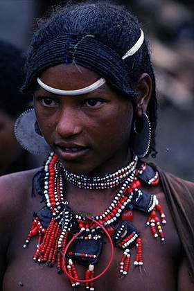 Africa | Young Afar woman in the market at Sampati, Ethiopia  | ©Robert Caputo