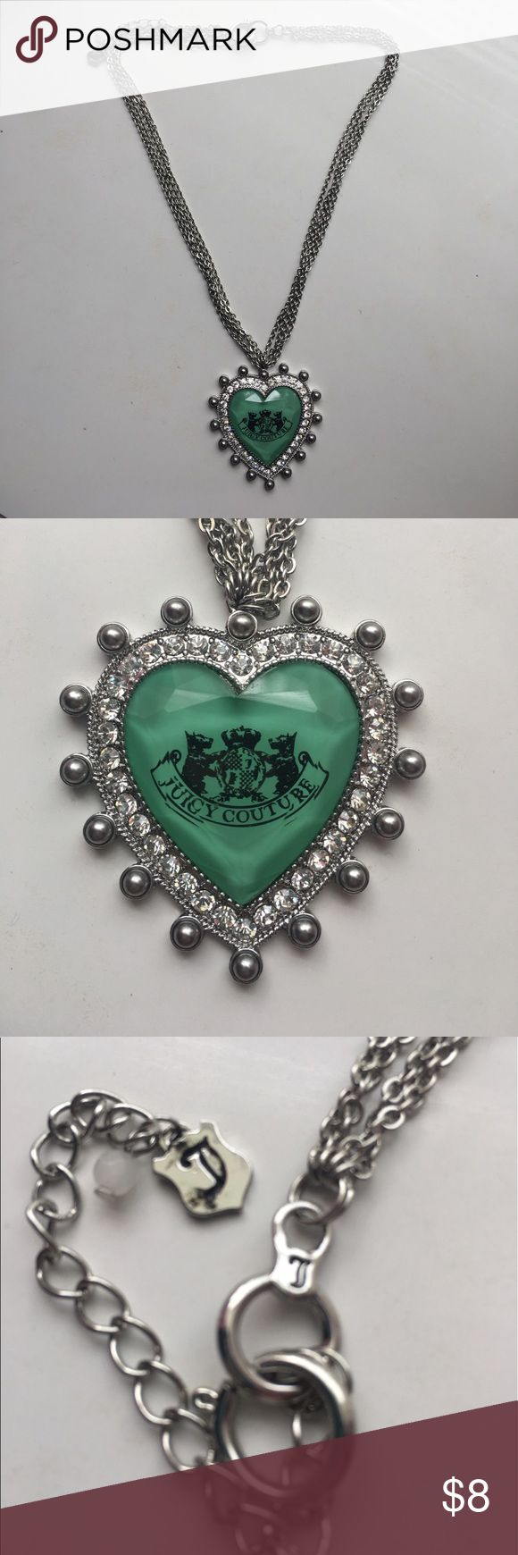 🆕 Juicy Couture Necklace! NWOT! Never Worn! New! No tags but never worn! From the Juicy Couture Collection at Kohl's! Decorate heart with the Juicy Couture Logo in the center! Fun to wear by itself or to layer up! Juicy Couture Jewelry Necklaces