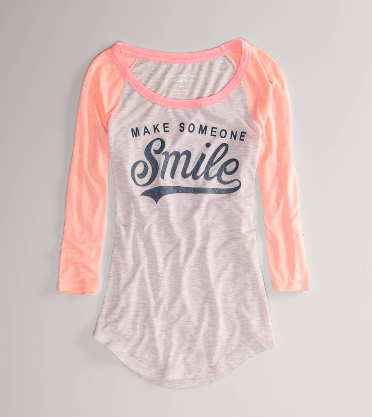 AE SMILE BASEBALL T  STYLE: 1308-6164 | COLOR: 639  $24.95