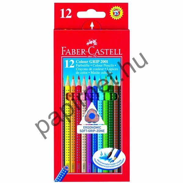 Színes Ceruza 12 db-os Háromszög Colour Grip 2001 Faber Castell