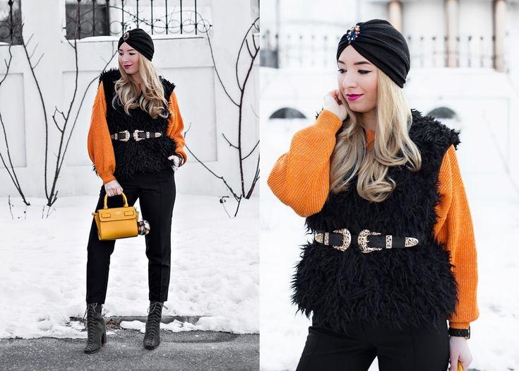 Un strop de orange in tinuta mea de iarna, winter outfit, Andreea Ristea
