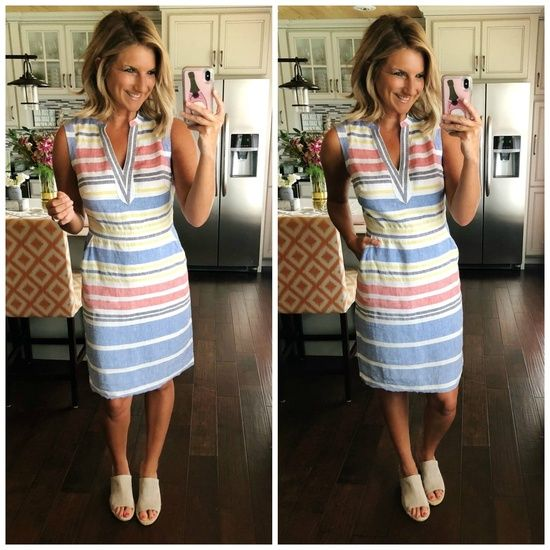 Work Dress // Spring Dress for Work // Perfect Linen Dress for Work, Brunch or S…