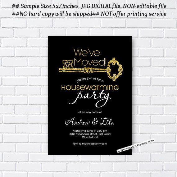 housewarming invitation New house KEY design Invitation Card