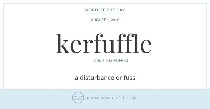 Fuffle was first used in Scottish English, as early as the 16th century, as a verb meaning 'to dishevel.' The addition of the prefix car-…