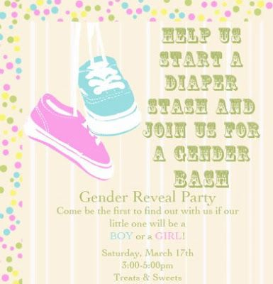 Gender Reveal Party Invitation Idea