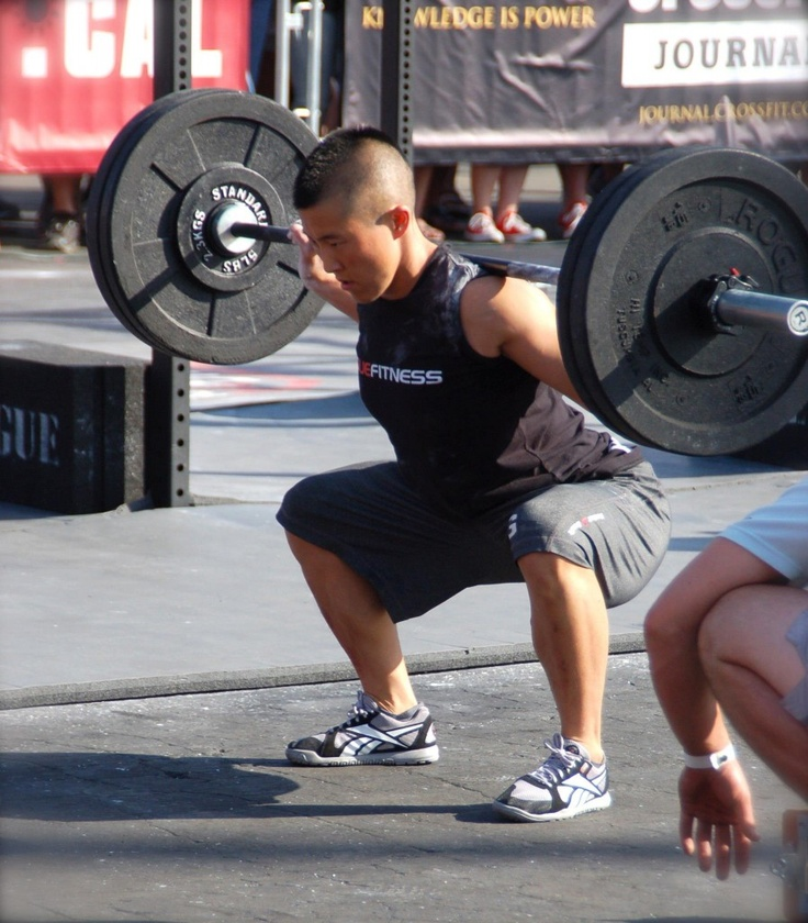 Learn to Barbell Squat--man in deep squat