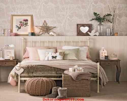 nice Bej Yatak Odası Dekorasyonu 2015