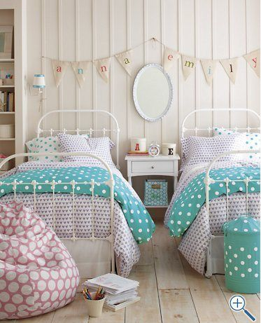 How vintge but soo adorable its like a farm bedroom! Sooo girls room