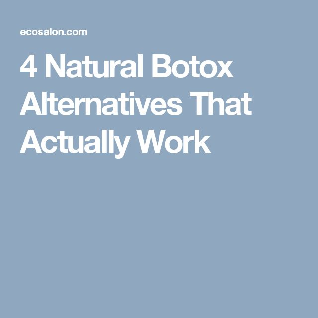 4 Natural Botox Alternatives That Actually Work