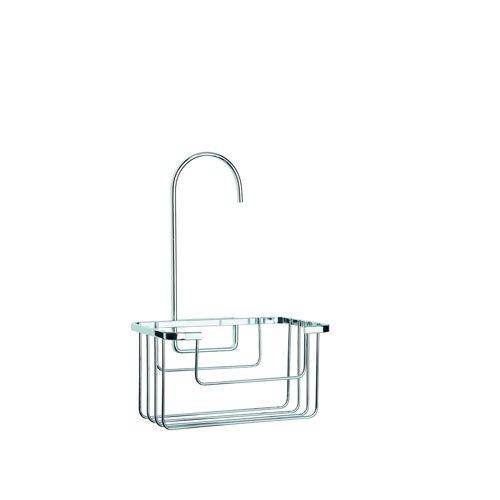 Contemporary hook over shower caddy with self-adhesive pad to secure caddy in place     Fits most standard riser rails and creates valuable additional storage space in the shower     Easy to install - no drilling required.     Maximum load: 2kg     Dimensions: H280 x W180 x D130mm   http://amzn.to/2nxared: Kitchen & Home