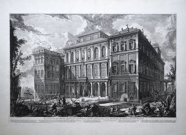 Immerse yourself in the 18th century Rome! Discover this beautiful view of the Barberini Palace, produced by the famous engraver Piranesi. This engraving is offered for sale by the parisian gallery of Christian Collin, a renown expert of Piranesi's work.  #18thcentury #achetezdelart #architecture #art #baroque #bernini #engraving #gallery #italy #paris #piranesi #rome #vedute
