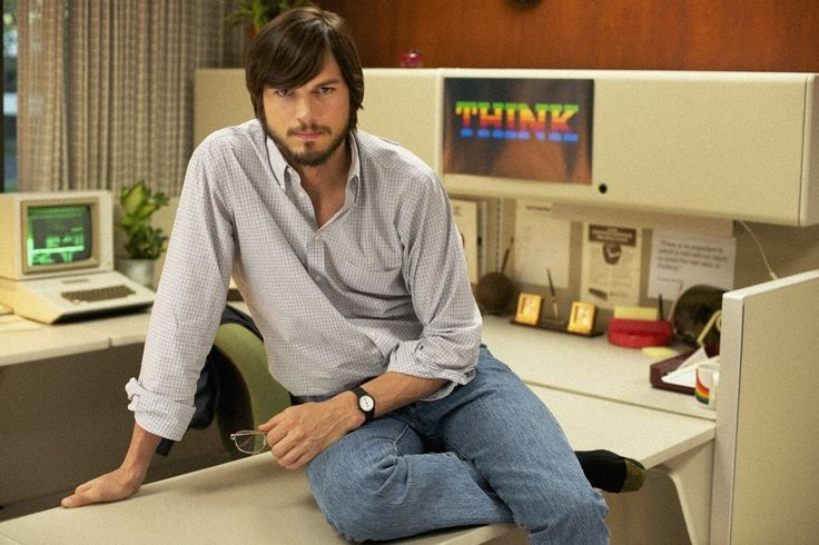 'Jobs' review: Ashton Kutcher surprises with a feverish take on Apple's co-founder. #Hollywood #Movies #Jobs