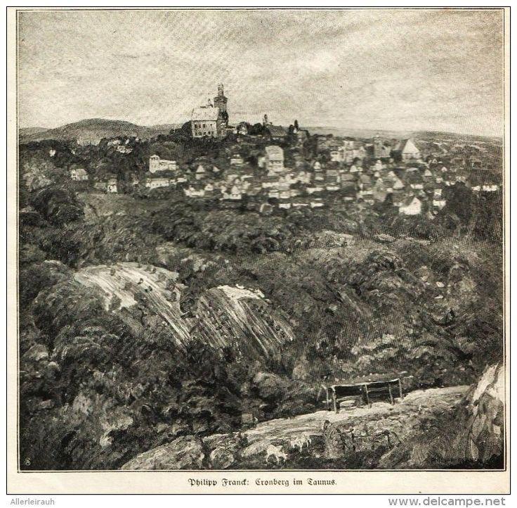"""Kronberg im Taunus (Philipp Franck)     -  Druck , entnommen aus """"Die Gartenlaube """", 1920"""
