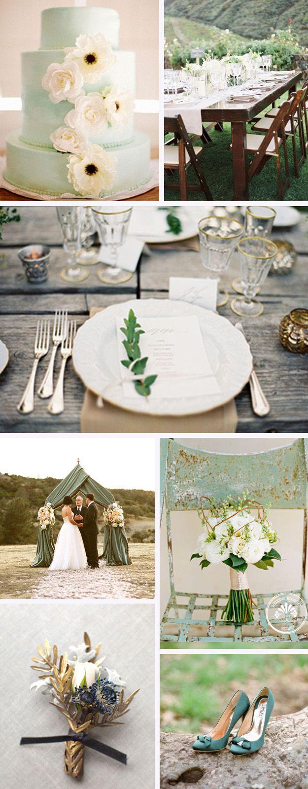 Idées de décoration pour un mariage vert.