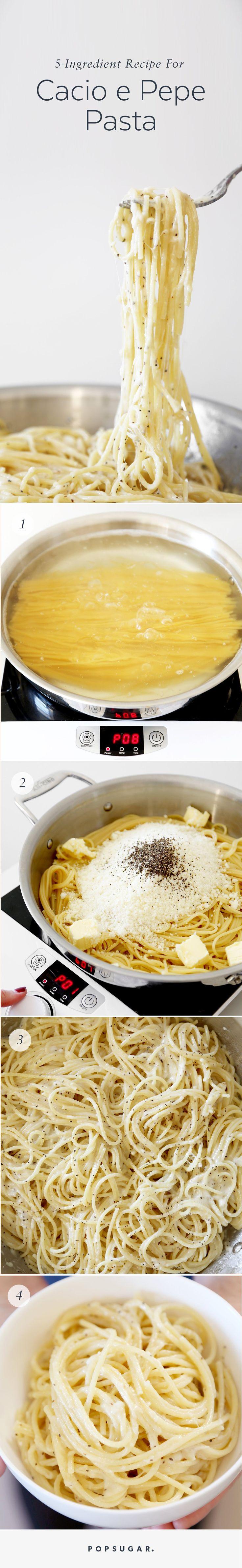 Fast, Easy, Five-Ingredient Recipe For Cacio e Pepe Pasta   POPSUGAR Food