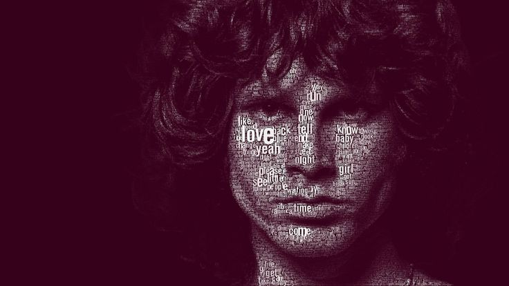 Jim Morrison animation | 1080 HD | Music desktop wallpapers