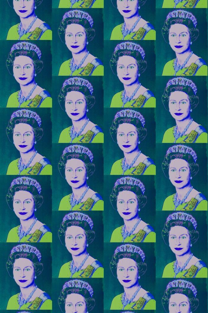 Flavor Paper's Andy Warhol Queen Elizabeth Paper in teal, from Cult Favorites September 2014