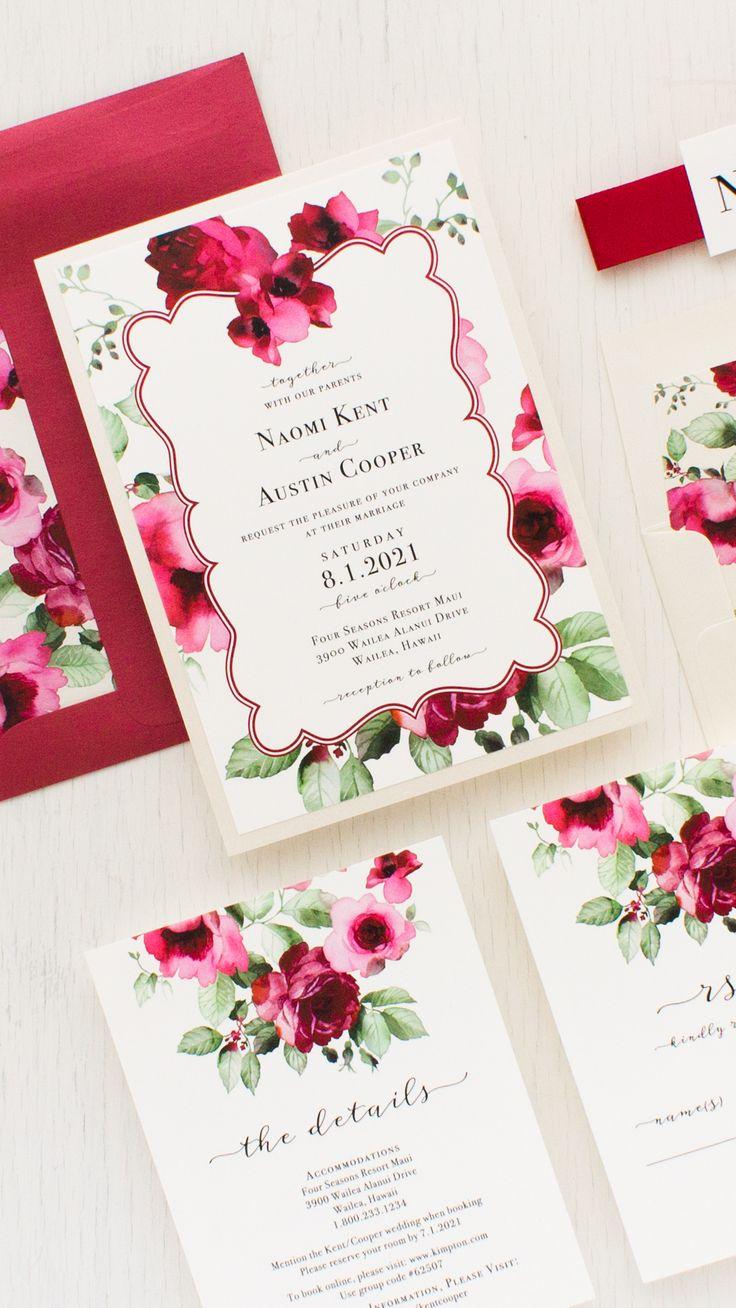 free online wedding invitation sites%0A Cranberry Crush Wedding Invitations