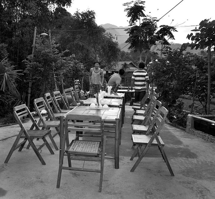 Dining in the courtyard under the stars #HomestayDining