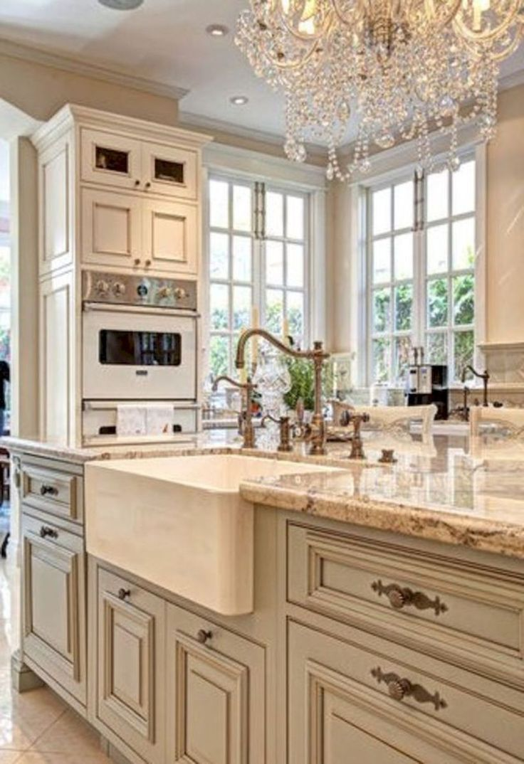 40+ amazing french country kitchen modern design ideas (35)
