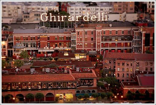 The Ghirardelli Chocolate Factory.  San Francisco, California.  Spent a day here and at Ghirardelli Square in the late 1980's with mom and aunt Jean.  San Francisco is a very beautiful and culturally rich city.