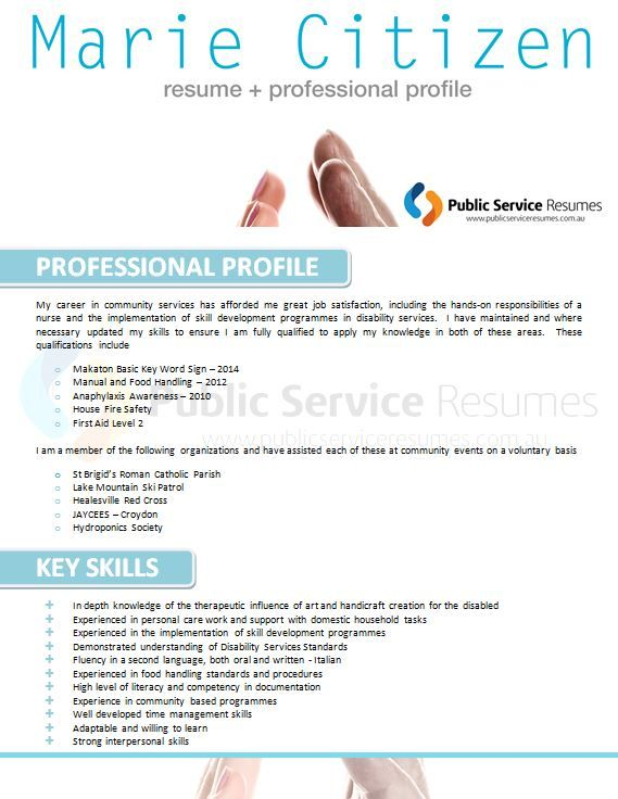 health professional resumes