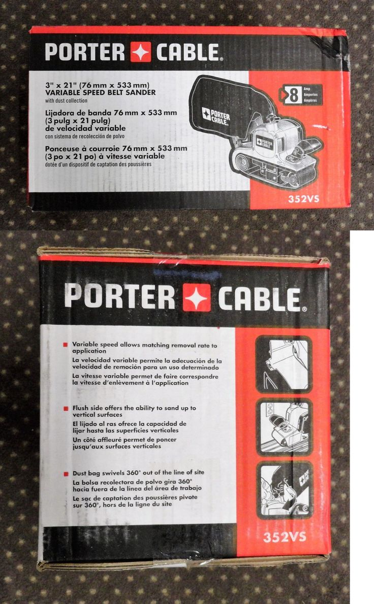 Belt Sanders 42285: Porter Cable 352Vs 3 X 21 Variable Speed Belt Sander Brand New In The Box -> BUY IT NOW ONLY: $159.5 on eBay!