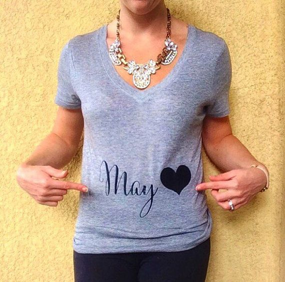 D2 Due Date Tee Belly with Heart Tee Preggers by TheCoutureKitten