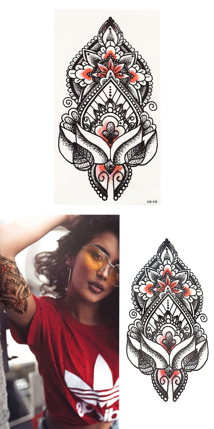 1pcs Sexy Indian Totem Small Full Flower Arm Temporary Waterproof Tattoo Stickers for Women Men Body Art #tattoosforwomensmall #flowertattoosforwomen