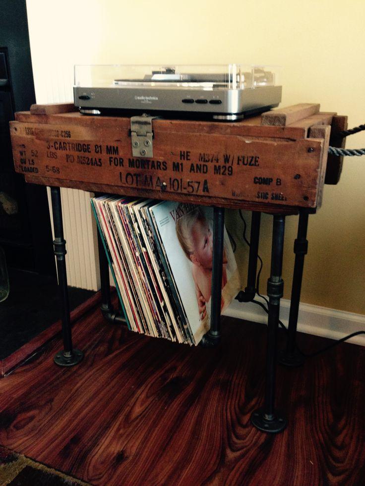Diy Vinyl Record Storage Homemade Diy Record Storage Made