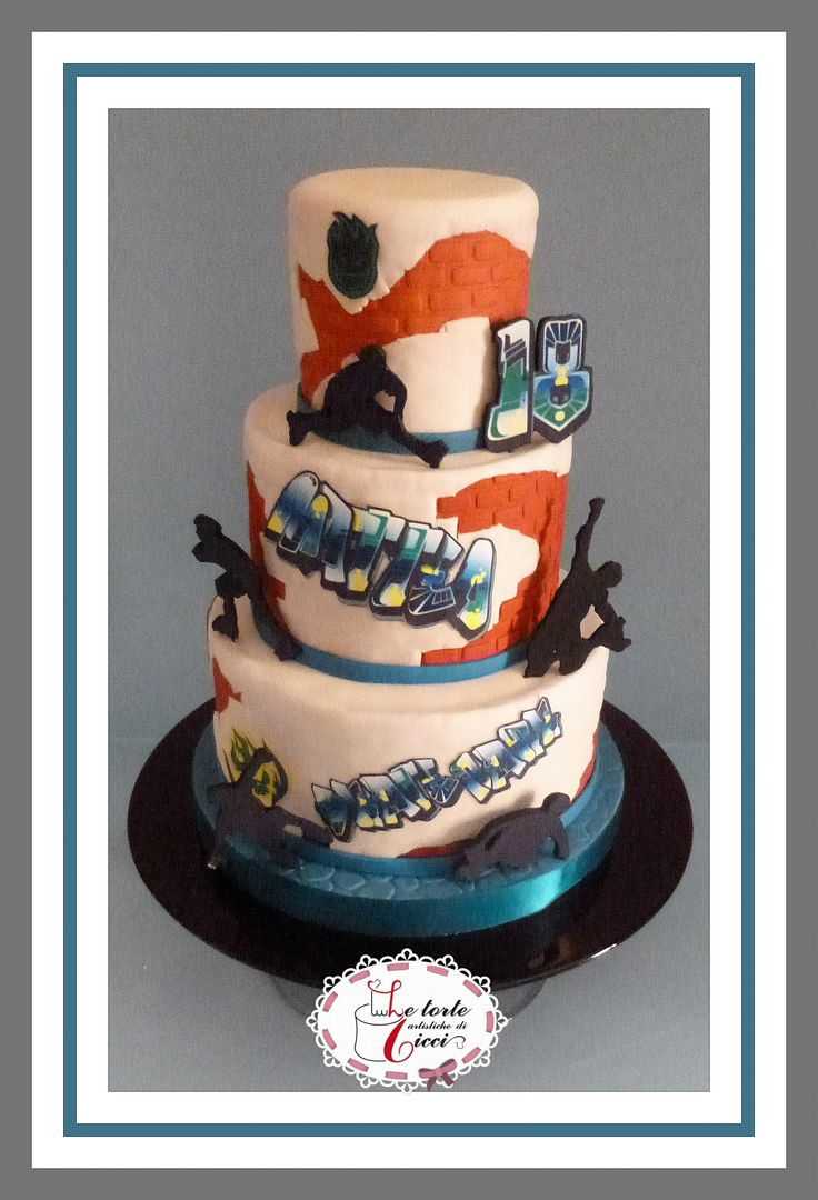 Roller skate passion for 18th birthday cake