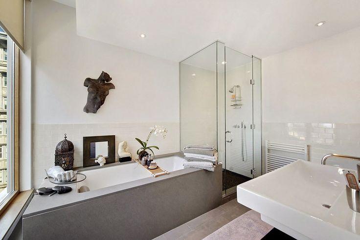 Diseño en New York - Baño con bañera y ducha