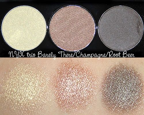 NYX Eyeshadow... Just as great as urban decay... Fraction of the cost... A staple in my makeup bag... Lots of different pallets and 2 or 3 shadow compacts... Paired with bare essentials eye shadow primer and the colors are rich and stay put even through sweaty work outs!!!