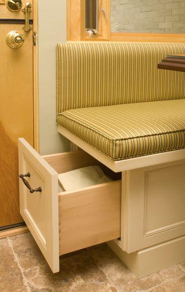 Storage kitchen booth designs breakfast nooks banquettes pinterest - Kitchen booth with storage ...