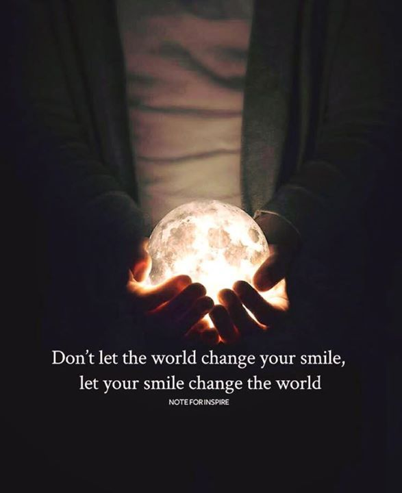 Positive Quotes :    QUOTATION – Image :    Quotes Of the day  – Description  Dont let the world change your smile..  Sharing is Power  – Don't forget to share this quote !    https://hallofquotes.com/2018/04/11/positive-quotes-dont-let-the-world-change-your-smile/