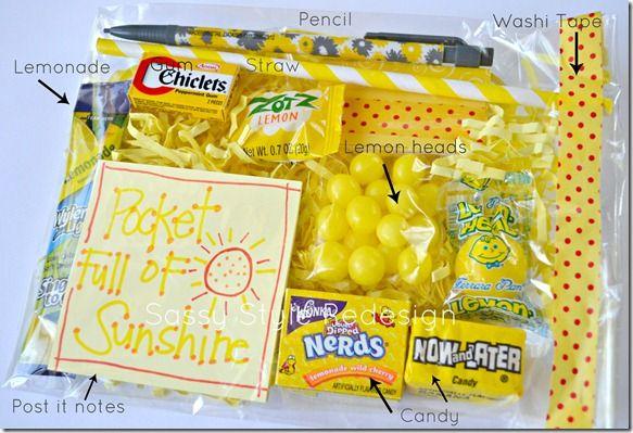a pocket full of sunshine gift basket... TOO cute