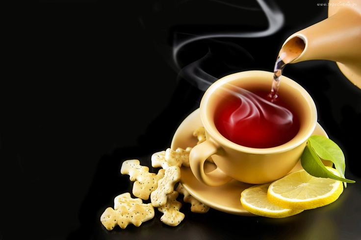 Herbata, Plasterki, Cytryny, Ciasteczka