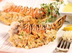 Baked Stuffed Lobster Tails Recipe | Foodland