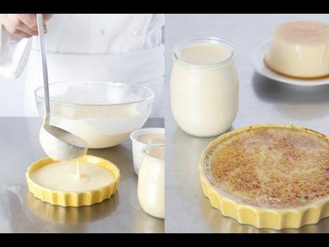 Technique de cuisine : préparer un appareil à crème brûlée, crème caramel et pot de crème - YouTube