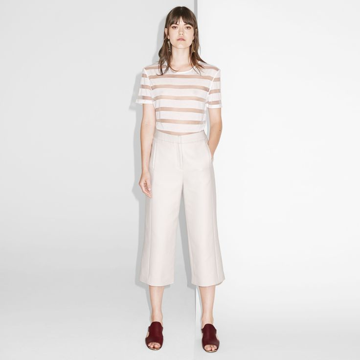 FWSS In My Head are cotton twill culottes with a high-waist fit and a clean finish.  #culottes #beige #fwss